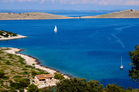 kornati national park: Idyllic scene from Croatian national park Kornati