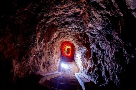 Abandoned bunker tunnel in Murter Croatia