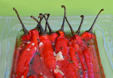 red peppers: Red peppers salad