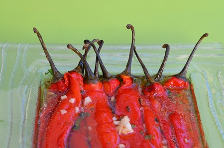 Red peppers salad