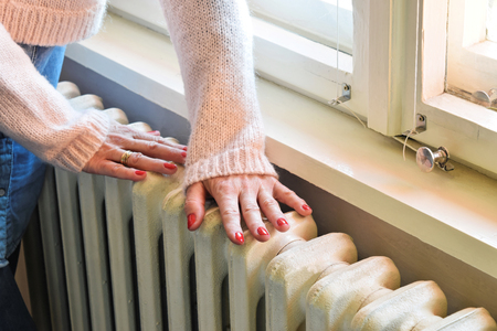 Home central heating system, iron radiator