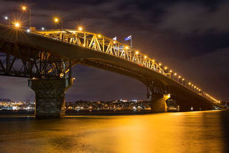 Auckland Harbour Bridge by night