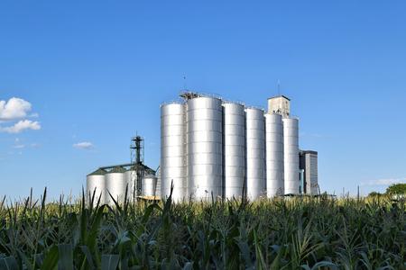Metal silo in Europe Stock Photo