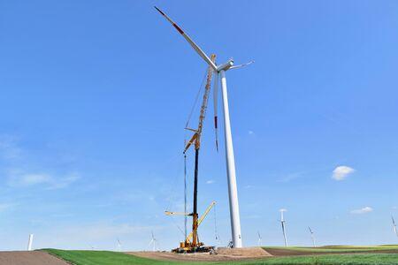 Construction of wind farm in Alibunar Standard-Bild