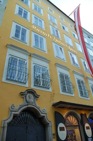 mozart: House in Salzburg where Mozart was born