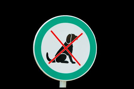 No dogs allowed/forbid for dogs sign - isolated on black Stock Photo - 3796642