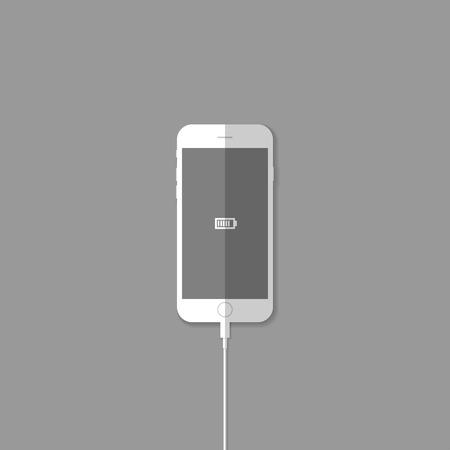 Recharge phone battery illustration  Illustration