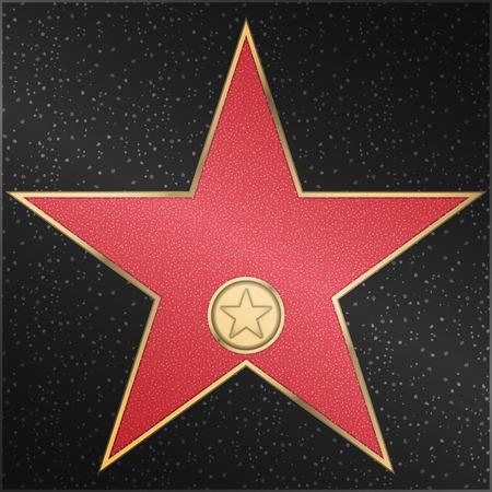 Roter Marmor Stern mit einer Metallschlaufe und Logo Standard-Bild - 54362077