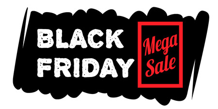 70 75: Black Friday sale inscription design template. Set Black Friday banner. Stock Photo