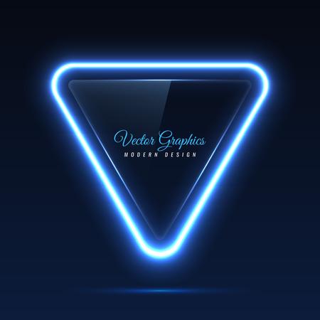la bannière de verre. formes géométriques brillantes Vecteurs