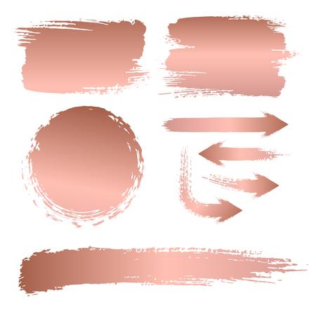 Set van penseelstreken voor de achtergrond van een bord Vector Illustratie