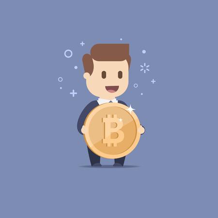 Little business man  イラスト・ベクター素材