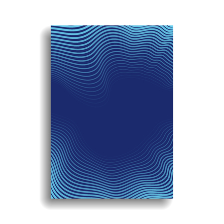 Design of a minimal cover for books, magazines, brochures, flyers with wavy lines forming a gradient. Vector background. Eps10