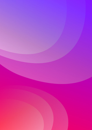 Colorful cover. Wavy shapes with gradient. Modern design. Eps10 vector