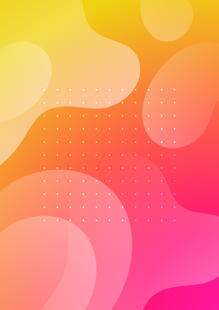 Colorful cover with liquid forms. Wavy shapes with gradient. Modern design. Eps10 vector Archivio Fotografico - 124983203