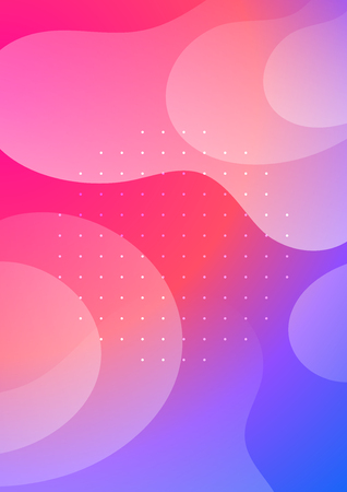 Colorful cover with liquid forms. Wavy shapes with gradient. Modern design. Eps10 vector