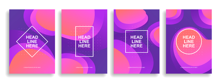 A collection of colorful covers. Wavy shapes with gradient. Modern design. Eps10 vector Stock Vector - 124983032