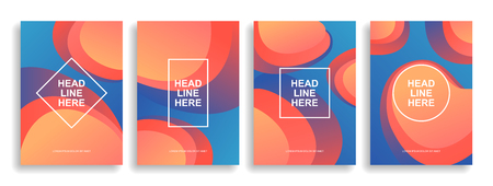 A collection of colorful covers. Wavy shapes with gradient. Modern design. Eps10 vector Ilustrace