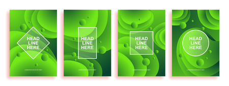 A collection of colorful covers. Wavy shapes with gradient. Modern design. Eps10 vector Illustration