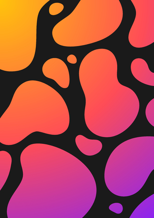 Colorful Liquid Cover. Wavy shapes with gradient. Modern design. Eps10 vector Illustration