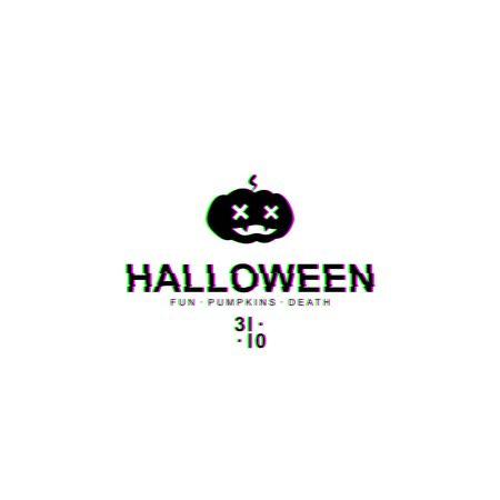 Halloween pumpkin with glitch effect. Vector EPS10. Ilustração