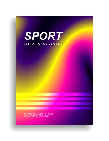 Sports cover design in vibrant colors. Smooth gradient lines. Eps10 vector