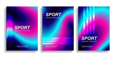 Set of designer covers. Mixed fluid gradient. Vector illustration eps10