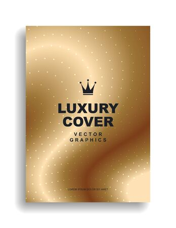 Gold cover design. Premium quality. Crown. Vector eps 10