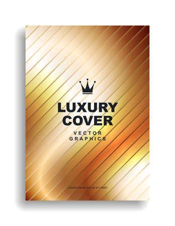 Luxury golden cover design. Royal style premium quality. Vector eps 10 Çizim