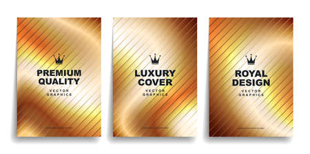 Set of luxury gold designer covers. Premium quality royal style.
