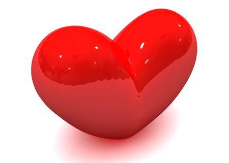 radiosity: Valentine heart Stock Photo
