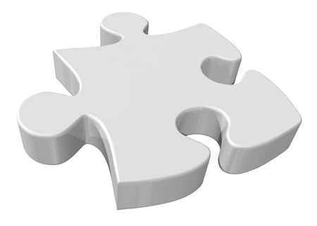 hopelessness: Piece of puzzle Stock Photo