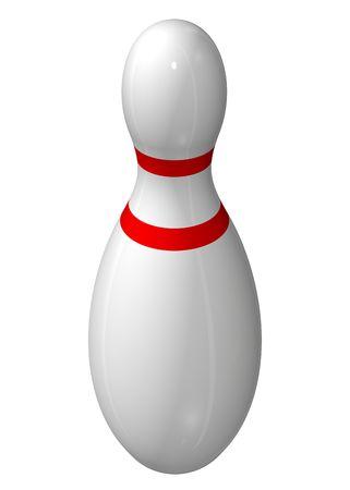 Single bowling pin Stockfoto