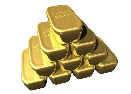 grapa: Engrape de oro en barras  Foto de archivo