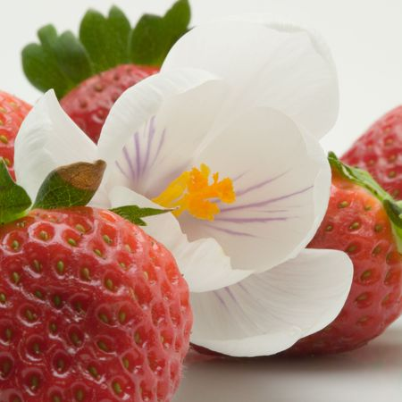 Decorated strawberry dessert