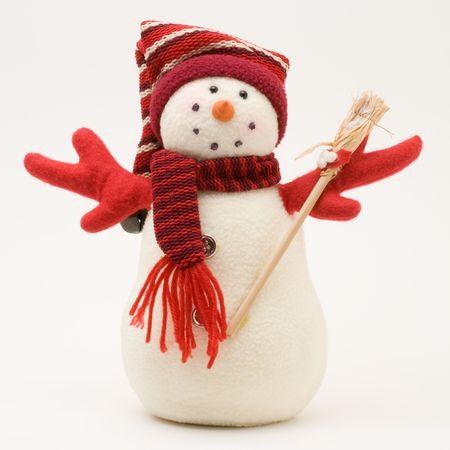 decorated snowman Stockfoto