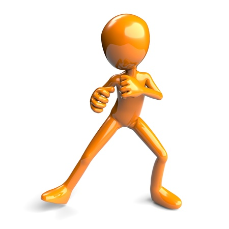 defensa personal: Figura en 3D de una lucha plantean