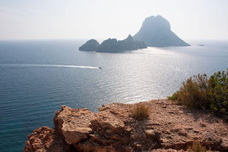 vacance: Es Vedra isola, Ibiza, Spagna