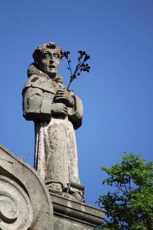apostle paul: apostle Paul  against a background of blue sky