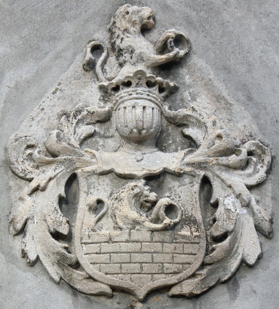 Coat of arms with lions as a symbol of courage and valor Imagens