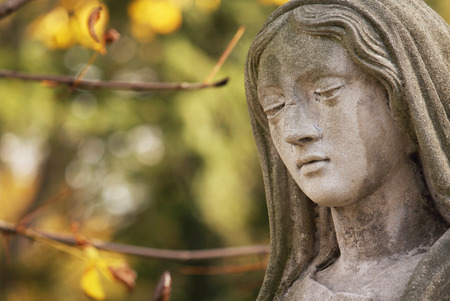 Statue Of Virgin Mary As A Symbol Of Love And Kindness Stock Photo