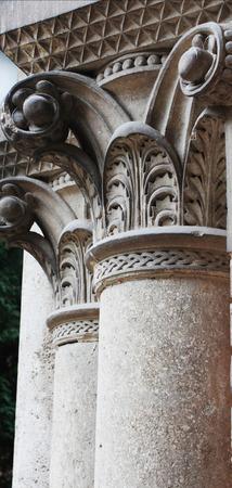 corinthian: Ancient columns in Corinthian style (details) Stock Photo