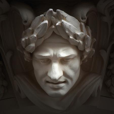 arte greca: Dio Zeus. Il re degli dei il sovrano del monte Olimpo e il dio del cielo e del tuono.