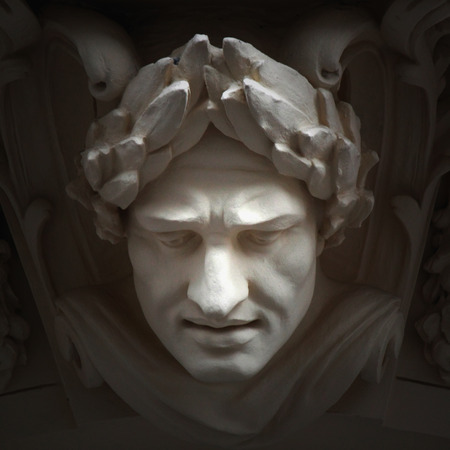 God Zeus. The king of the gods the ruler of mount Olympus and the god of the sky and thunder. Stock Photo