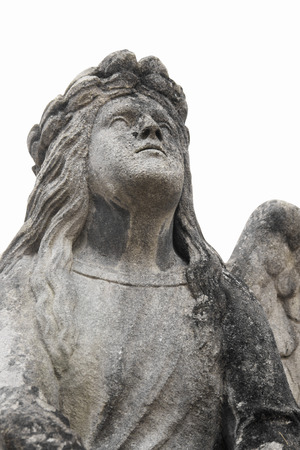 Figure of angel as a symbol of love, kindness, and suffering
