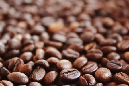 Coffee grunge background on the light background