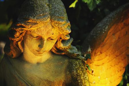 angel de la guarda: Ángel de la guarda con las alas como símbolo de protección y seguridad Foto de archivo