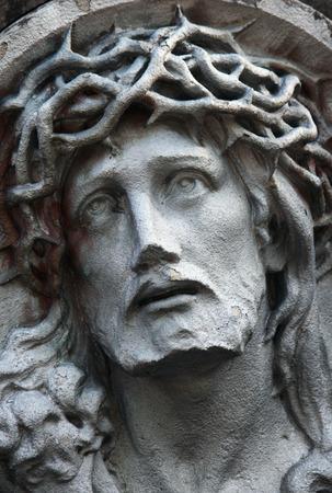 detail of sculpture of Jesus Ñhrist