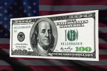 financial stability: 100 dollar bill as a symbol of financial stability