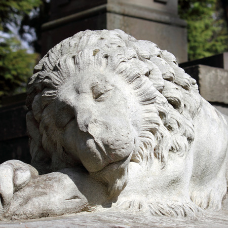 lemberg: sculpture of a lion as a symbol of strength and greatness